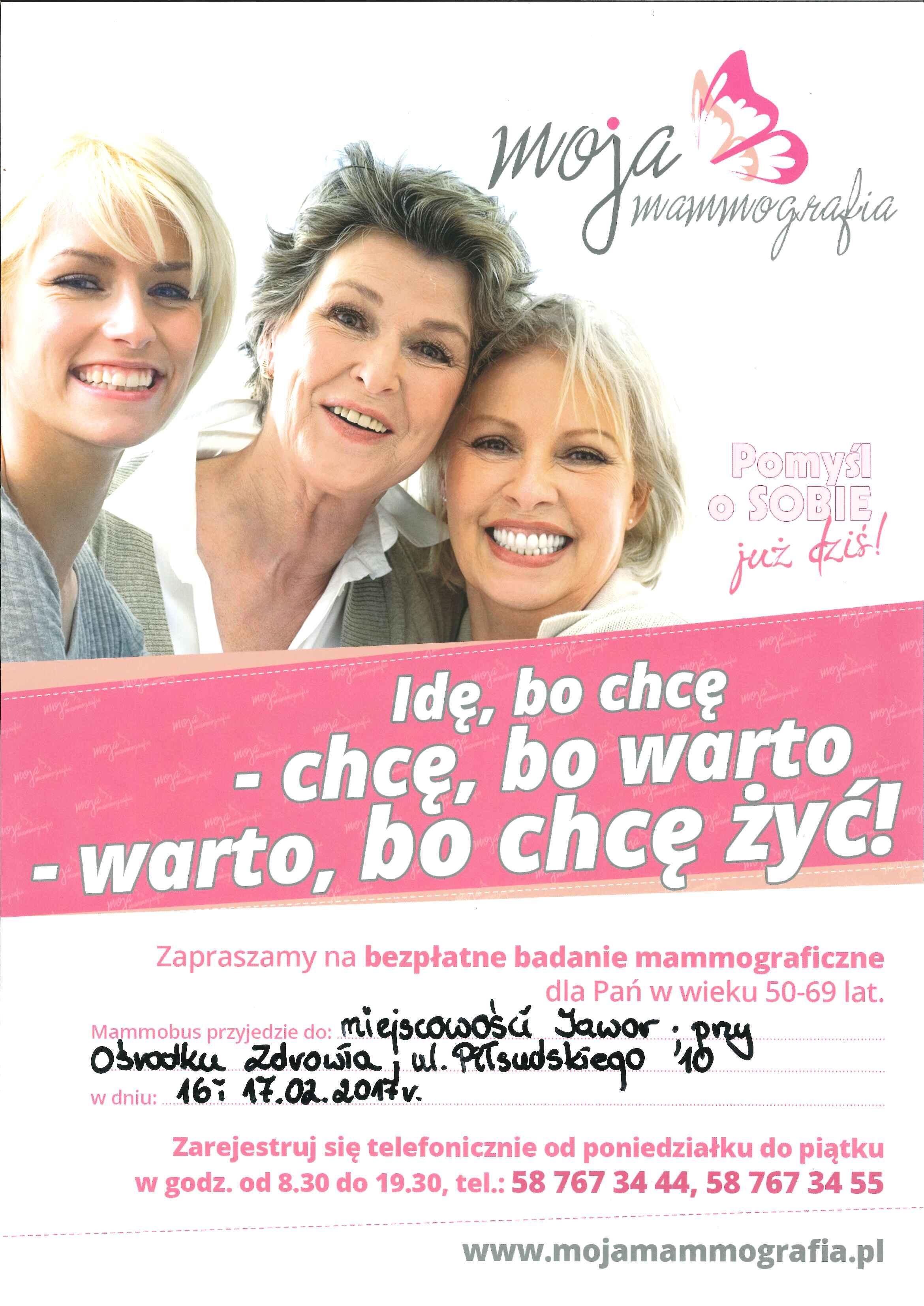Plakat_mammografia_16 i 17 lutego 2017
